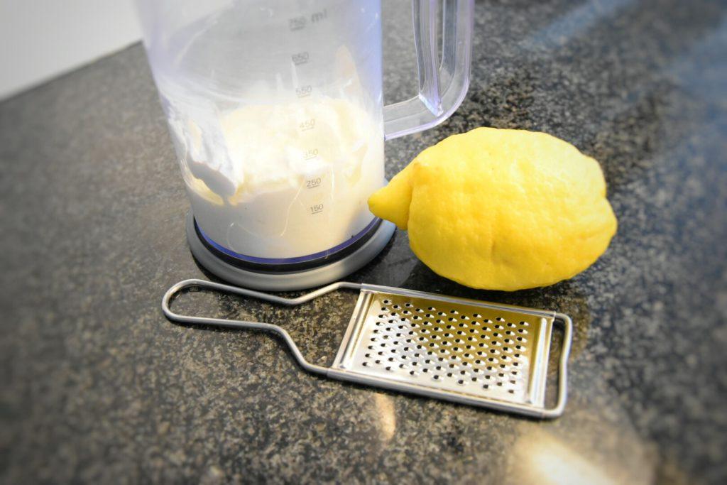 parmigiana estiva - crema di burrata e scorza di limone
