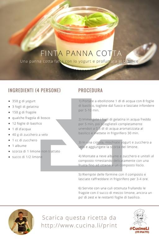 Finta Panna Cotta - Ricetta Tascabile