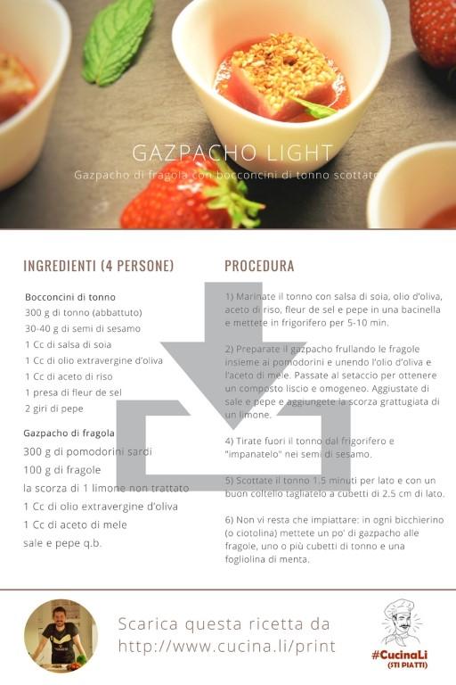 Gazpacho Light - Ricetta Tascabile