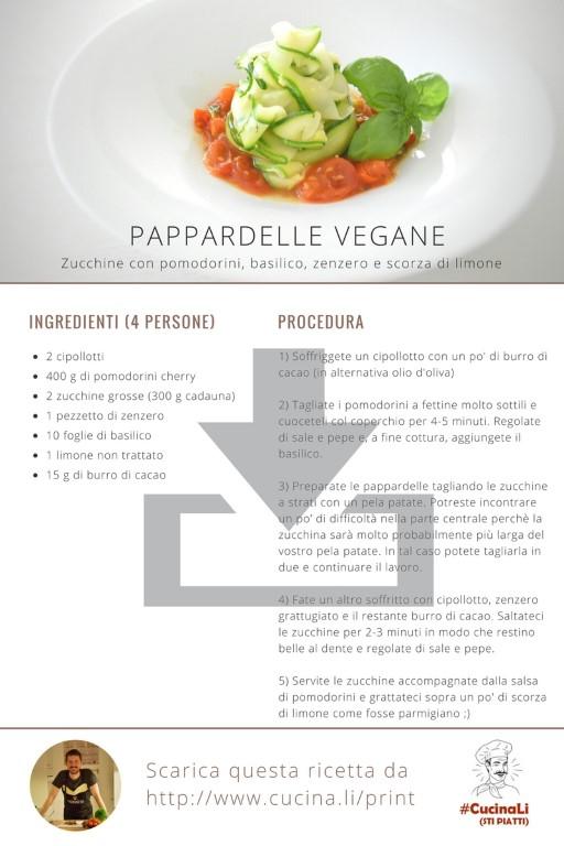 Pappardelle Vegane - Ricetta Tascabile