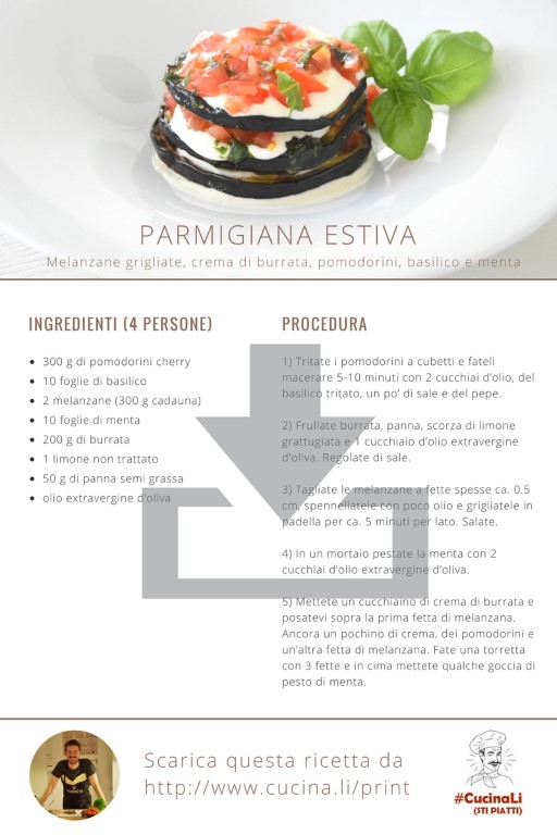 Parmigiana Estiva - Ricetta Tascabile
