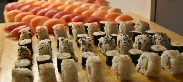 tagliere di sushi