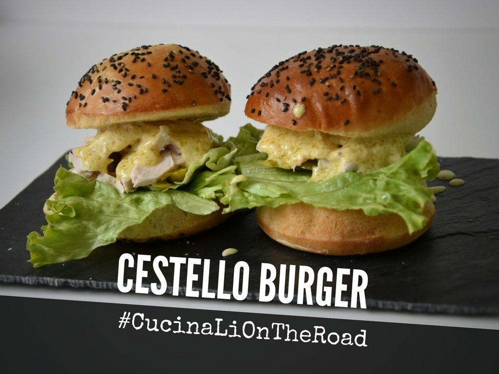 Cestello Burger, il pollo al cestello versione streetfood (servito da CucinaLi il 10-11 Giugno a Melide)