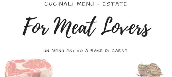 Menu - Estate - Carne