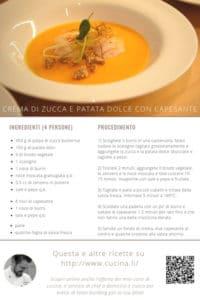 Crema di Zucca e Patate dolci con Capasanta - Ricetta Tascabile