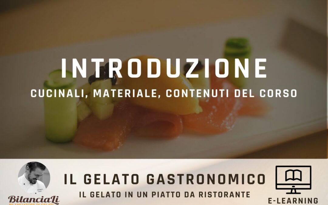 corso online sul gelato gastronomico - introduzione