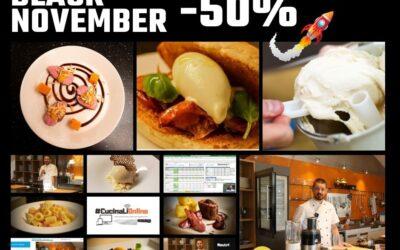 Corsi di cucina online al 50% per tutto Novembre