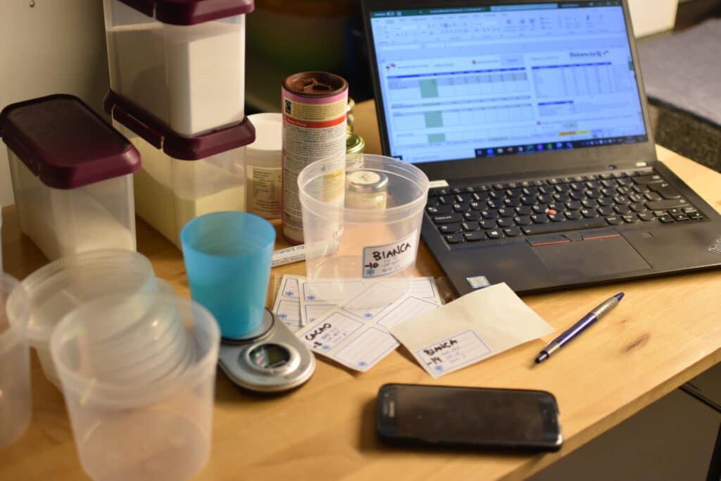 bilanciare il gelato con bilanciali, esperimenti per pacojet